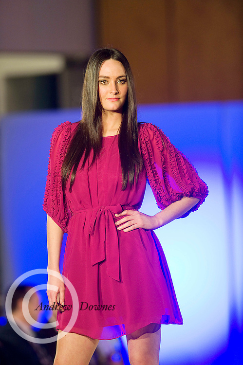 Catwalk Model agency models at the launch of the A6 in Michael Moore car sales Athlone charity fashion show Photo:Andrew Downes
