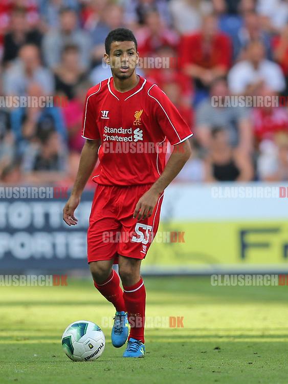 FODBOLD: Kevin Stewart (Liverpool) under træningskampen mellem Brøndby IF og Liverpool FC den 16. juli 2014 på Brøndby Stadion. Foto: Claus Birch
