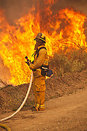 """Spring Fire"" in Ventura County near Point Magu. The wind driven fire started in Newberry Park, CA and burned all the way to the Pacific Ocean..The Naval Station at Point Magu also burned."