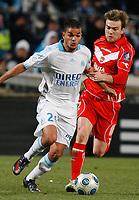 Fotball<br /> Frankrike<br /> Foto: DPPI/Digitalsport<br /> NORWAY ONLY<br /> <br /> FOOTBALL - FRENCH CHAMPIONSHIP 2008/2009 - L1 - OLYMPIQUE MARSEILLE v VALENCIENNES FC - 07/03/2009 - HATEM BEN ARFA (OM) / JONATHAN LACOURT (VAL)