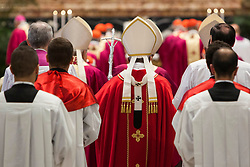 Pope Francis celebrates a Mass for the Cardinals and Bishops who have died over the course of the year in St. Peter's Basilica in Vatican City on November 03, 2018. 03 Nov 2018 Pictured: Pope Francis celebrates a Mass for the Cardinals and Bishops who have died over the course of the year in St. Peter's Basilica in Vatican City on November 03, 2018. Photo credit: Stefano Costantino / MEGA TheMegaAgency.com +1 888 505 6342