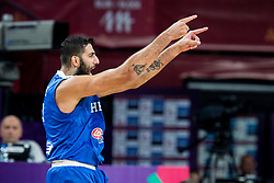 Ioannis Bourousis of Greece reacts during basketball match between National Teams of Lithuania and Greece at Day 10 in Round of 16 of the FIBA EuroBasket 2017 at Sinan Erdem Dome in Istanbul, Turkey on September 9, 2017. Photo by Vid Ponikvar / Sportida