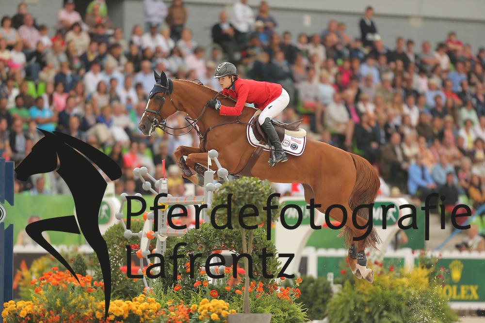 Davis, Lucy, Barron<br /> Normandie - WEG 2014<br /> Springen - Finale III<br /> © www.sportfotos-lafrentz.de/ Stefan Lafrentz