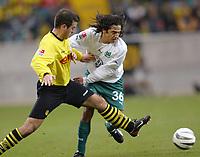 v.l. Niclas Jensen, Juan Carlos Menseguez Wolf<br /> Bundesliga VfL Wolfsburg - Borissia Dortmund