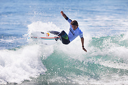 Leonardo Fioravanti of Italy will surf in Round Two of the 2017 Hurley Pro Trestles after placing second in Heat 9 of Round One at Trestles, CA, USA.