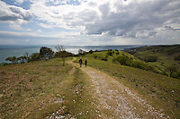 Walking on St Boniface Down, Ventnor, Isle of Wight