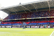 Crystal Palace fans create a display during the Premier League match between Crystal Palace and Hull City at Selhurst Park, London, England on 14 May 2017. Photo by Andy Walter.