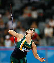 SHENZHEN, Aug. 18, 2011  Sunette Stella Viljoen of South Africa competes during the women's Javelin final of athletics event at the 26th Summer Universiade, in Shenzhen, a city of south China's Guangdong Province, Aug. 18, 2011. Viljoen won the gold medal with 66.47 meters and set a new Asian Record. (Credit Image: © Xinhua via ZUMA Wire)