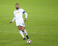 Kyle Bartley of Swansea city in action. The Emirates FA Cup, 4th round replay match, Swansea city v Notts County at the Liberty Stadium in Swansea, South Wales on Tuesday 6th February 2018.<br /> pic by  Andrew Orchard, Andrew Orchard sports photography.