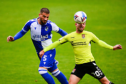 Max Ehmer of Bristol Rovers challenges for the ball with Matt Warburton of Northampton Town - Mandatory by-line: Dougie Allward/JMP - 03/10/2020 - FOOTBALL - Memorial Stadium - Bristol, England - Bristol Rovers v Northampton Town - Sky Bet League One