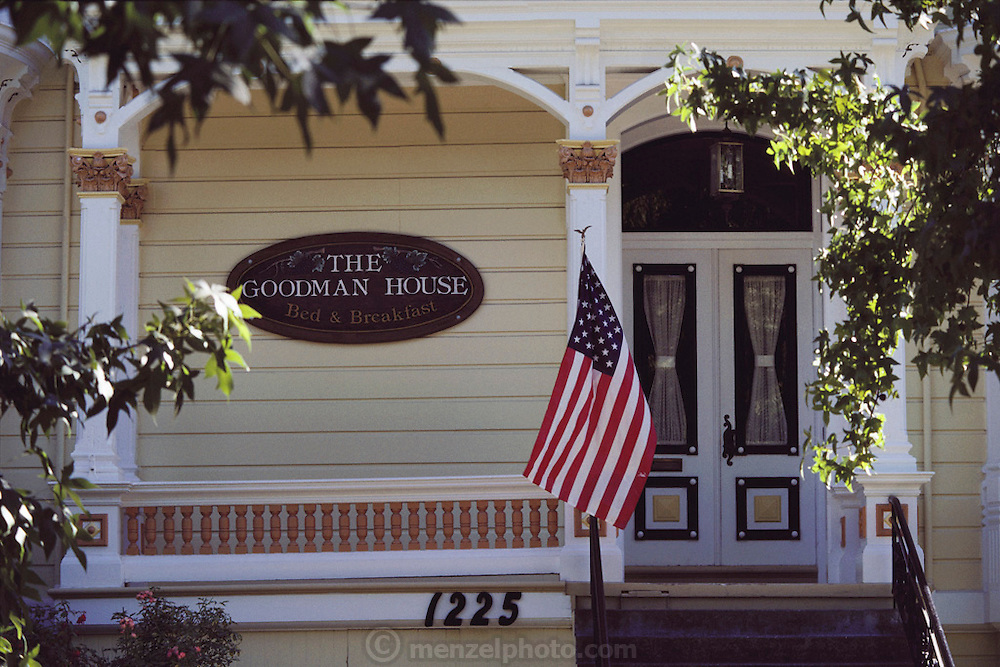 The Goodman House Bed and Breakfast located at 1225 Division Street in Napa, California.  Built in 1882.