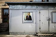 Décembre 2017. Kosovo : 10ème anniversaire de l'indépendance. Pristina. Prishtina. Hashim Thaçi, le président de la république du Kosovo, ancien de l'UCK, suspecté de crimes de guerre.