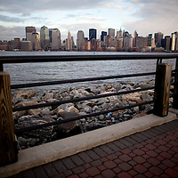 Lower Manhattan skyline photographed from Liberty State Park, New Jersey
