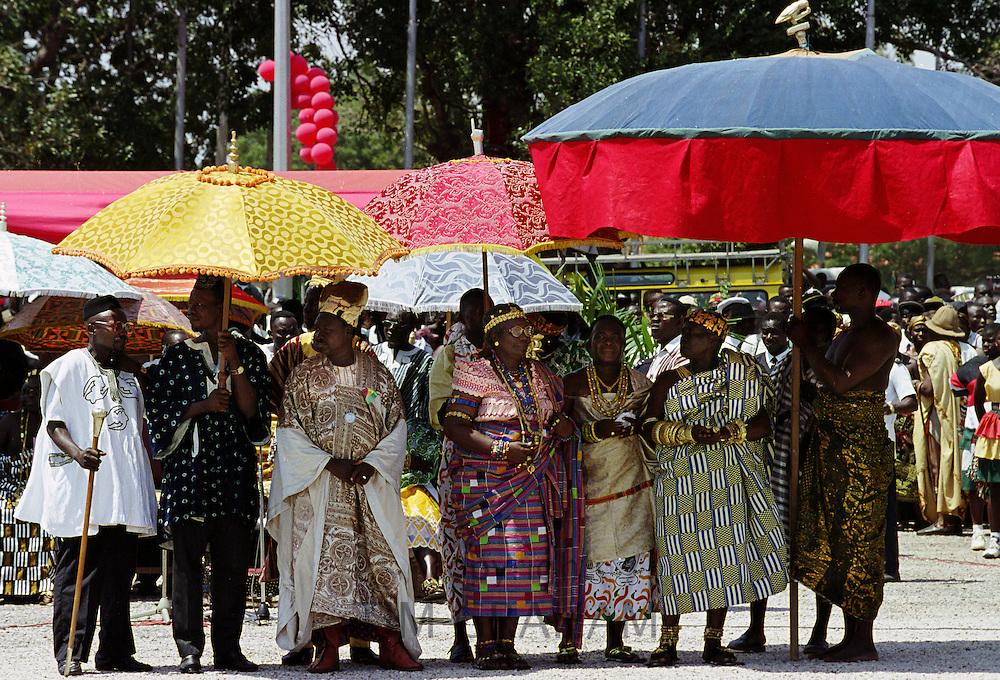 Ashanti chiefs at Durbar of tribal chiefs in Accra, Ghana