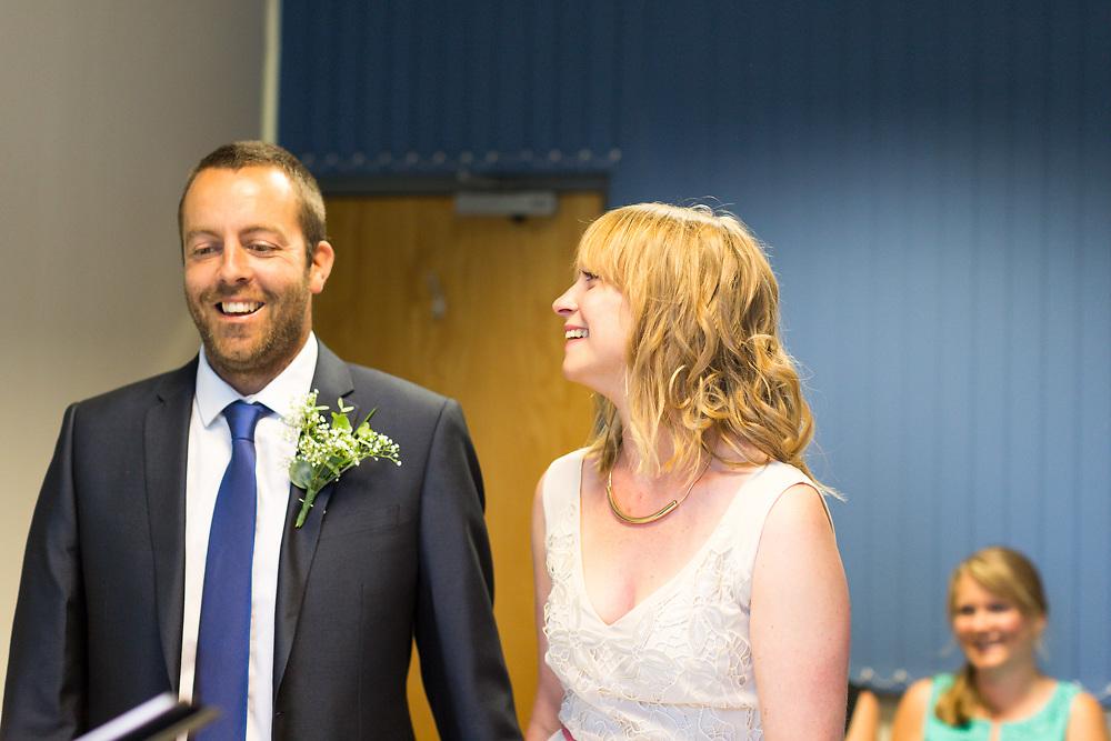 The Wedding of Caroline Burnett & Theo Bennett-Rice at Newport Registry Office on the Isle of Wight