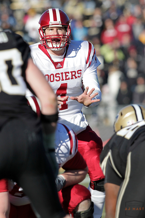 27 November 2010: Indiana Hoosiers quarterback Ben Chappell (4) as the Purdue Boilermakers played the Indiana Hoosiers in a college football game in West Lafayette, Ind.