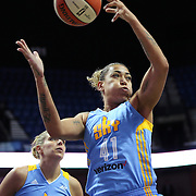 UNCASVILLE, CONNECTICUT- MAY 05:  Erika de Souza #41 of the Chicago Sky in action during the Atlanta Dream Vs Chicago Sky preseason WNBA game at Mohegan Sun Arena on May 05, 2016 in Uncasville. (Photo by Tim Clayton/Corbis via Getty Images)