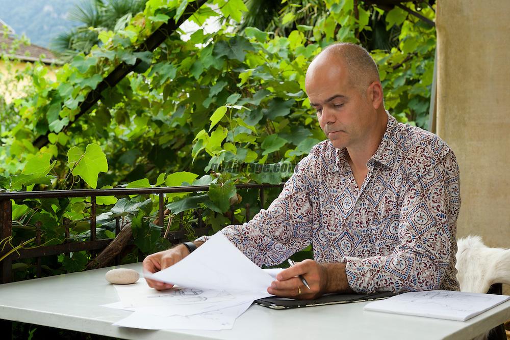 31. August 2014, Biasca Switzerland Designer Palo Fancelli