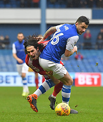 Birmingham City's Jota battles with Sheffield Wednesday's Daniel Pudil