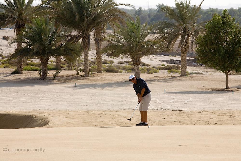 Abu Dhabi, United Arab Emirates (UAE). .March 20th 2009..Al Ghazal Golf Club..36th Abu Dhabi Men's Open Championship..Paul King