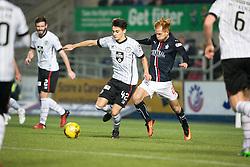 St Mirren's Kyle Magennis and Scott Shehpard. Falkirk 3 v 1 St Mirren, Scottish Championship game played 3/12/2016 at The Falkirk Stadium.