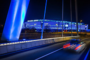 Soccerclub KAA Gent football stadium Ghelamco Arena by night