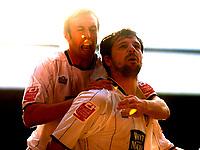 Photo: Daniel Hambury.<br />Crystal Palace v Leeds United. Coca Cola Championship. 04/03/2006.<br />Leeds' Robbie Blake celebrates his goal.