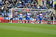 Wigan's Arouna Kone © gets the final touch as he scores the opening goal. Barclays Premier league, Reading v Wigan Athletic at the Madejski Stadium in Reading on Saturday 23rd Feb 2013. pic by Andrew Orchard, Andrew Orchard sports photography,
