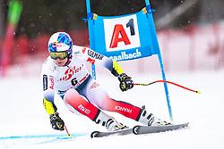 14.02.2020, Zwölferkogel, Saalbach Hinterglemm, AUT, FIS Weltcup Ski Alpin, Super G, Herren, im Bild Alexis Pinturault (FRA) // Alexis Pinturault of France in action during his run for the men's SuperG of FIS Ski Alpine World Cup at the Zwölferkogel in Saalbach Hinterglemm, Austria on 2020/02/14. EXPA Pictures © 2020, PhotoCredit: EXPA/ Johann Groder