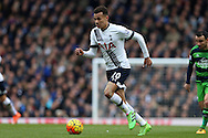 Dele Alli of Tottenham Hotspur in action. Barclays Premier league match, Tottenham Hotspur v Swansea city at White Hart Lane in London on Sunday 28th February 2016.<br /> pic by John Patrick Fletcher, Andrew Orchard sports photography.