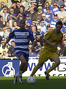 Reading, England, Nationwide Division One Football Reading v Preston North End, Readings' James Harper [on the ball] runs in from the wing, at the Madejski Stadium, on 18/10/2003 [Credit  Peter Spurrier/Intersport Images]..