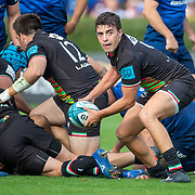 DUBLIN, IRELAND:  October 9:  Nicholas Casilio #9 of Zebre in action during the Leinster V Zebre, United Rugby Championship match at RDS Arena on October 9th, 2021 in Dublin, Ireland. (Photo by Tim Clayton/Corbis via Getty Images)
