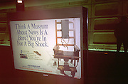 Museum electric chair subway poster.  Washington DC USA