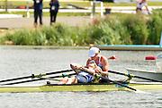 Eton Dorney, Windsor, Great Britain,..2012 London Olympic Regatta, Dorney Lake. Eton Rowing Centre, Berkshire.  Dorney Lake.  ..Final Women's Double Scull, GBR W2X, Bow Anna WATKINS and Katherine GRAINGER..12:17:35  Friday  03/08/2012 [Mandatory Credit: Peter Spurrier/Intersport Images]
