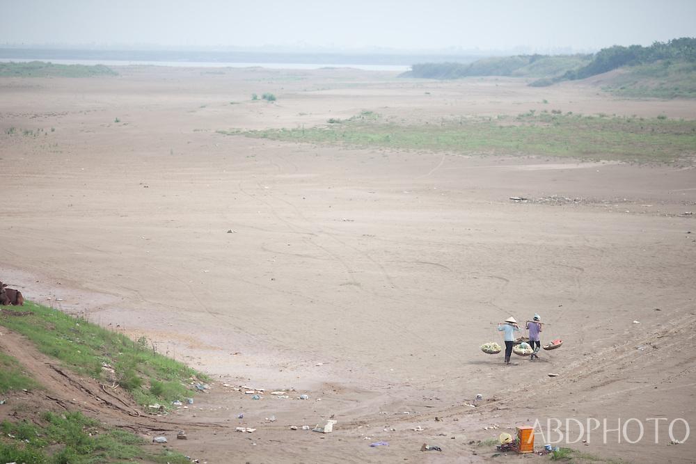 red river bed hanoi vietnam