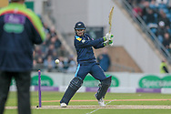 The weather is improving as the drizzle has stopped. Peter Handscomb (Yorkshire Vikings) and Gary Ballance (Yorkshire Vikings) have reached 50 during the Royal London 1 Day Cup match between Yorkshire County Cricket Club and Lancashire County Cricket Club at Headingley Stadium, Headingley, United Kingdom on 1 May 2017. Photo by Mark P Doherty.