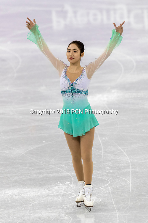Choi Dabin (KOR) competing in the Figure Skating - Ladies' Short at the Olympic Winter Games PyeongChang 2018