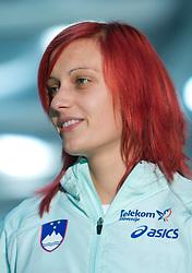 Nina Kolaric at fashion show of new jerseys of Slovenian Athletic National Team, on October 28, 2008, in Mercator center Siska, Ljubljana, Slovenia. (Photo by Vid Ponikvar / Sportal Images).