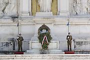 Italy, Rome, Vittorio Emanuele II Monument at Piazza Venezia.