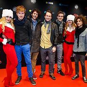 NLD/Amsterdam/20121222 - Inloop 538Jingleballs 2012, Handsome Poets met 2 kerstengelen