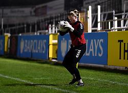 Benedicte Haland of Bristol City Women warms up prior to kick off - Mandatory by-line: Ryan Hiscott/JMP - 13/01/2021 - FOOTBALL - Twerton Park - Bath, England - Bristol City Women v Aston Villa Women - FA Continental Cup quarter final