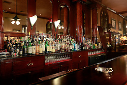 03 Sept 2014. New Orleans, Louisiana. <br /> The bar at Arnaud's French 75 Bar in the French Quarter.<br /> Photo; Charlie Varley/varleypix.com
