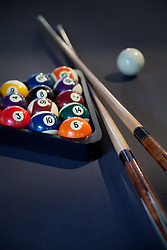 Pool table with pool balls que sticks VA1_803_266