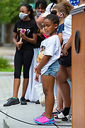 Wilkes-Barre, PA (July 11, 2020) -- Children look on as Pennsylvania State Representative Eddie Day Pashinski speaks at the Black Lives Matter NEPA United Movement demonstration at Wilkes-Barre Public Square.