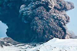 The cloud of ash from the Eyjafjallajoekull erupting volcano in Iceland. .©2010 Michael Schofield. All Rights Reserved.