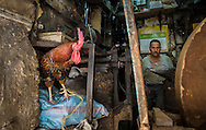 Metal worker in Fes el Bali, Fes, Morocco