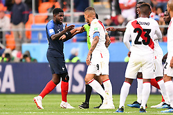 June 22, 2018 - Ekaterinbourg, France - 05 SAMUEL UMTITI (FRA) - COLERE - ALTERCATION (Credit Image: © Panoramic via ZUMA Press)