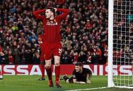 Andrew Robertson of Liverpool frustrated during the UEFA Champions League match at Anfield, Liverpool. Picture date: 11th March 2020. Picture credit should read: Darren Staples/Sportimage