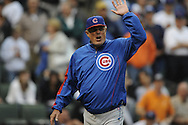CHICAGO - JUNE 29:  Manager Lou Piniella of the Chicago Cubs argues with umpires Rob Drake (home) and Chad Fairfield (first) after being ejected from the game for arguing an appealed check swing during the game against the Chicago White Sox at U.S. Cellular Field in Chicago, Illinois on June 29, 2008.  The White Sox defeated the Cubs 5-1.  (Photo by Ron Vesely)