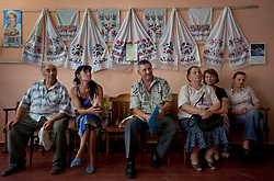 People are seen waiting to meet with paralegals and attorneys to talk about legal issues at the village community center, Bila Tserkva, Ukraine, June 14, 2011.  More than half of the worldÕs population, four billion people, live outside the rule of law, with no effective title to property, access to courts or redress for official abuse. The Open Society Justice Initiative is involved in building capacity and developing pilot programs through the use of community-based advocates and paralegals in Sierra Leone, Ukraine and Indonesia. The pilot programs, which combine education with grassroots tools to provide concrete solutions to instances of injustice, help give poor people some measure of control over their lives.